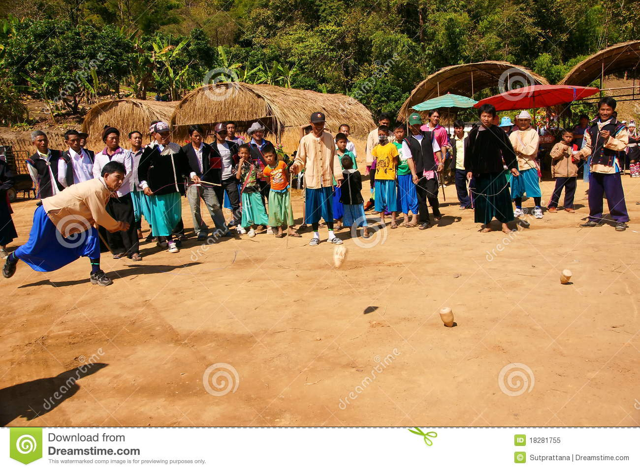 Lisu hill tribe playing top