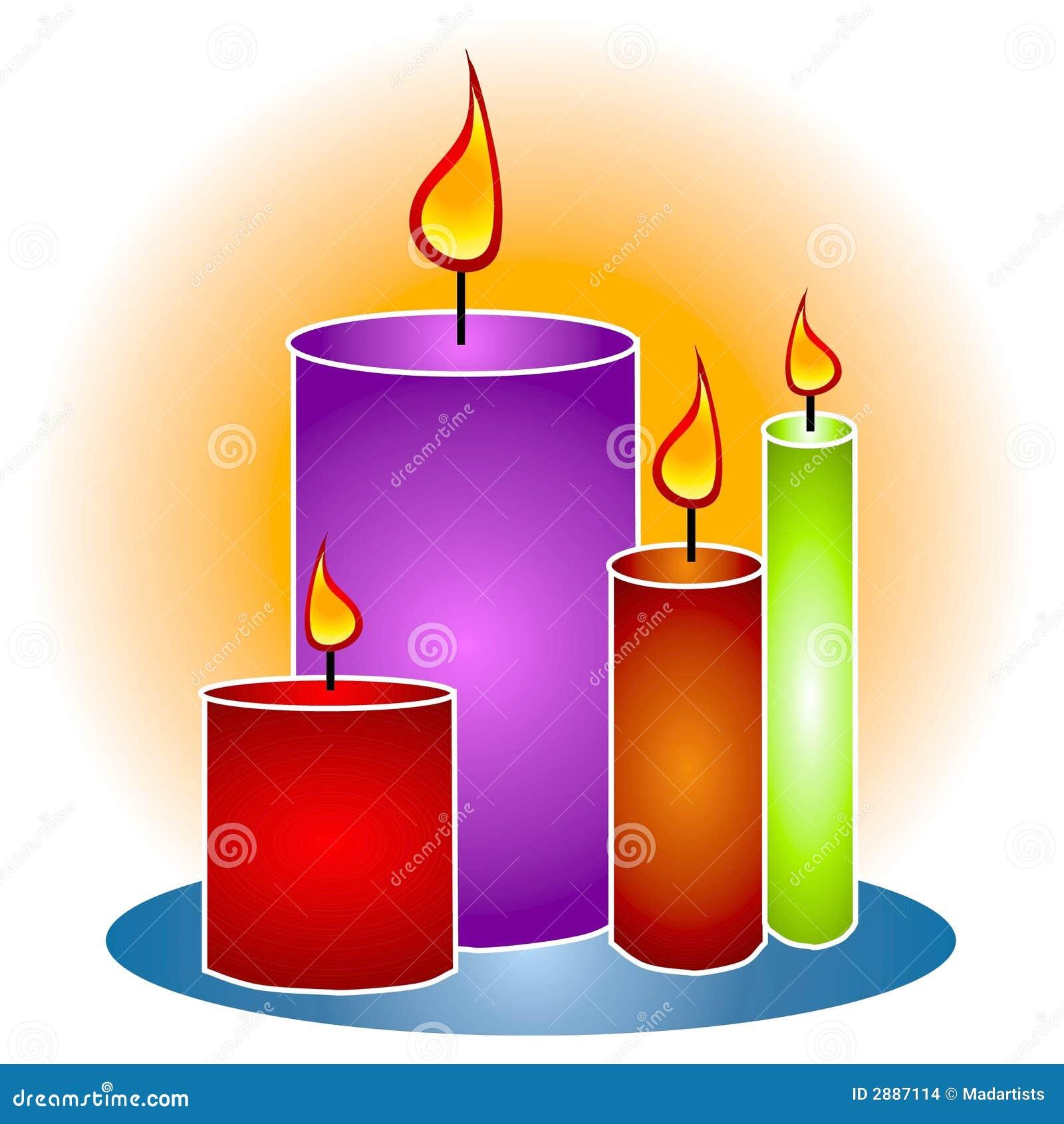 lit decorative candles clipart stock illustration illustration of rh dreamstime com clipart candlestick base clip art candle scents