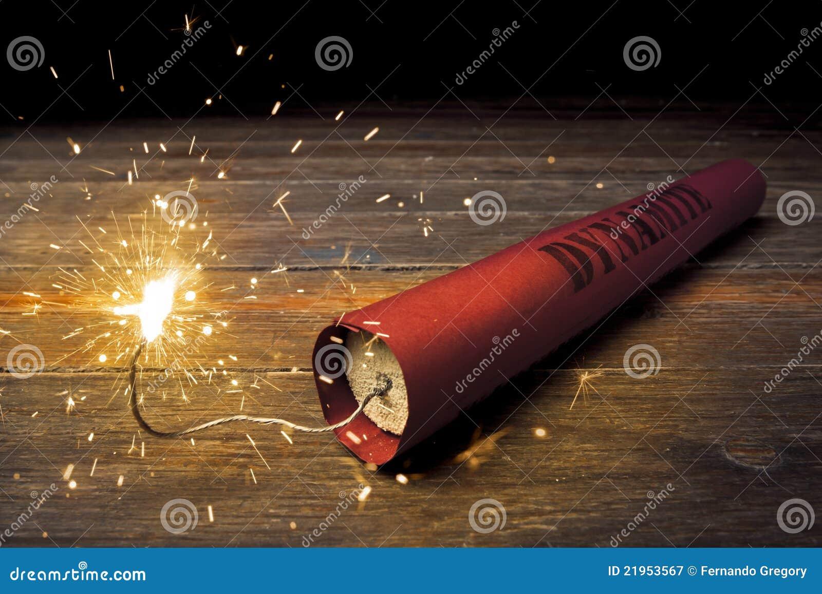 Lit Dynamite Stick On ...