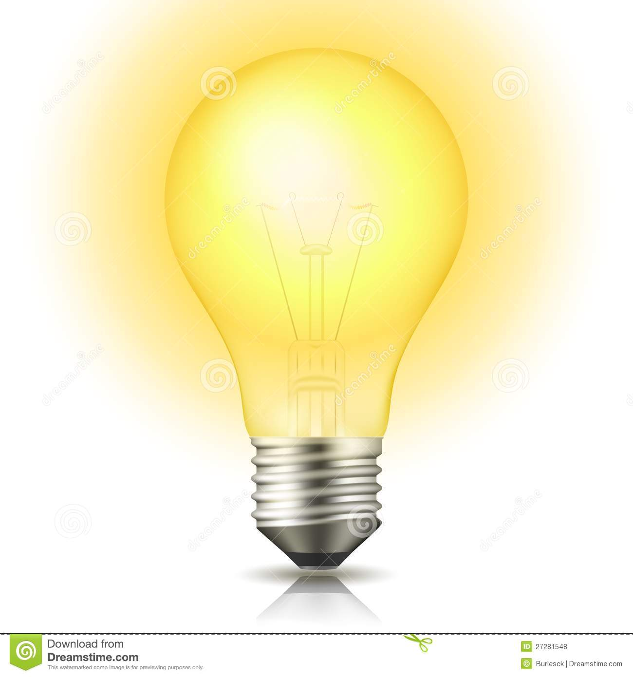 Lit Light Bulb Stock Vector Image Of Inspiration