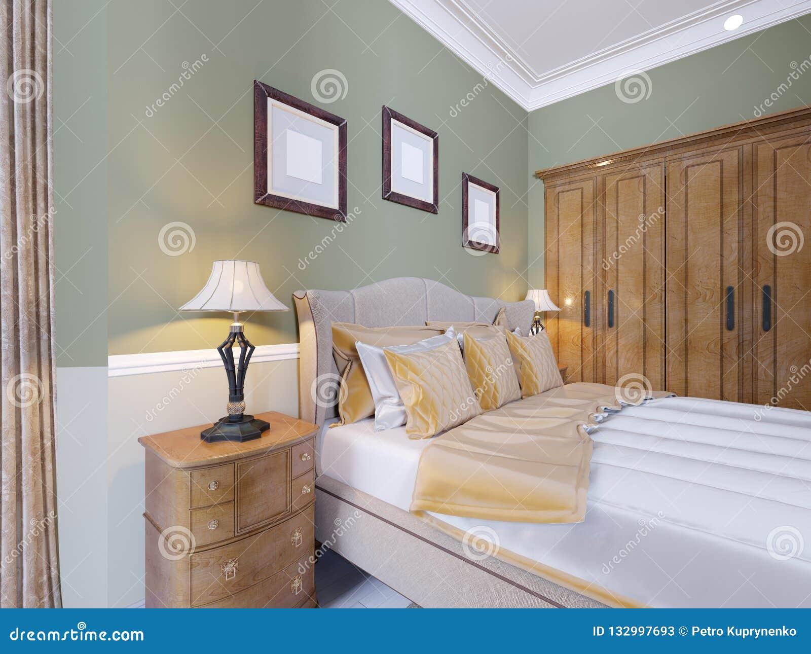 Lit Luxueux à L\'intérieur D\'une Chambre à Coucher Moderne ...