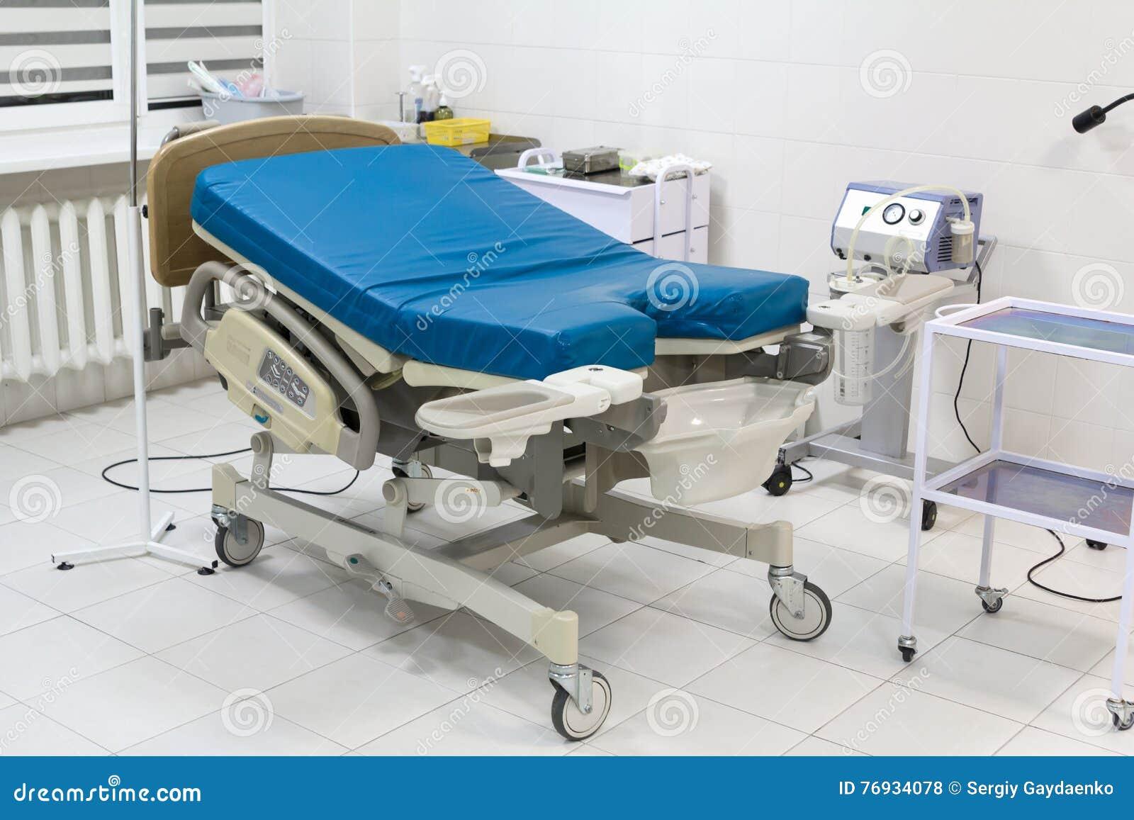 Lit Médical Dans La Chambre De Travail à L\'hôpital Moderne Photo ...