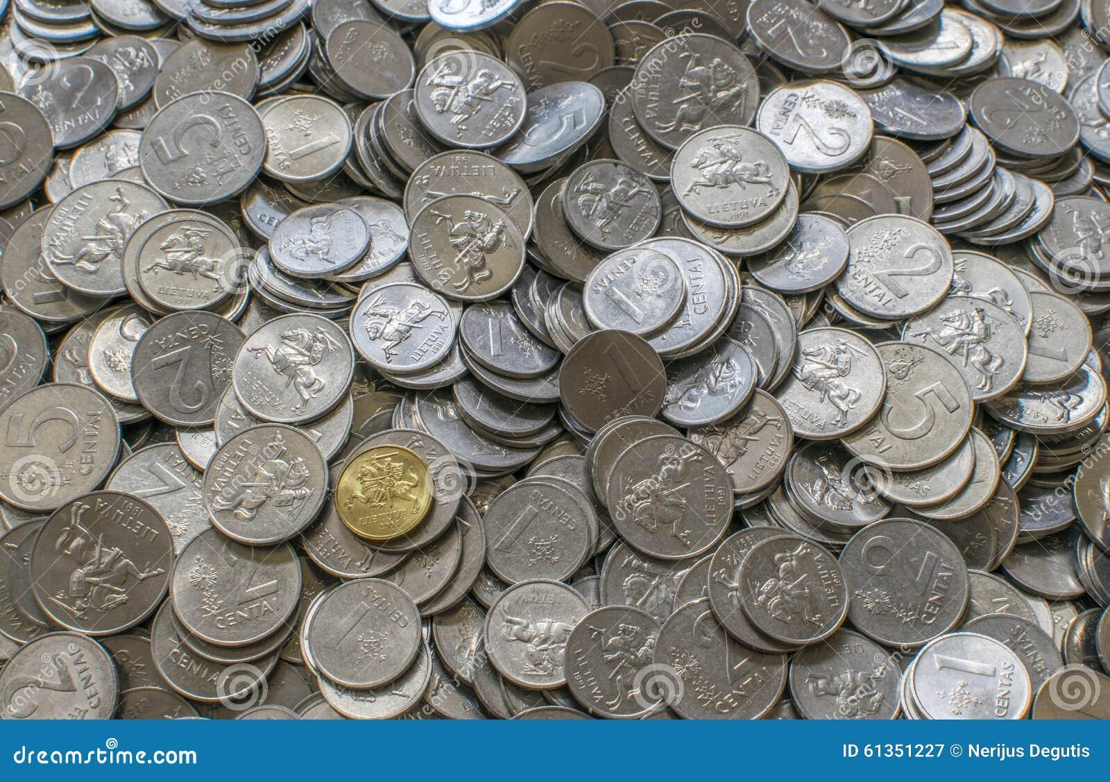 Litauische litas Cents
