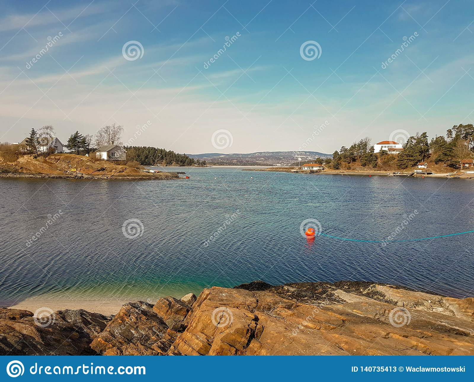 Liten ö i den Oslo fjorden