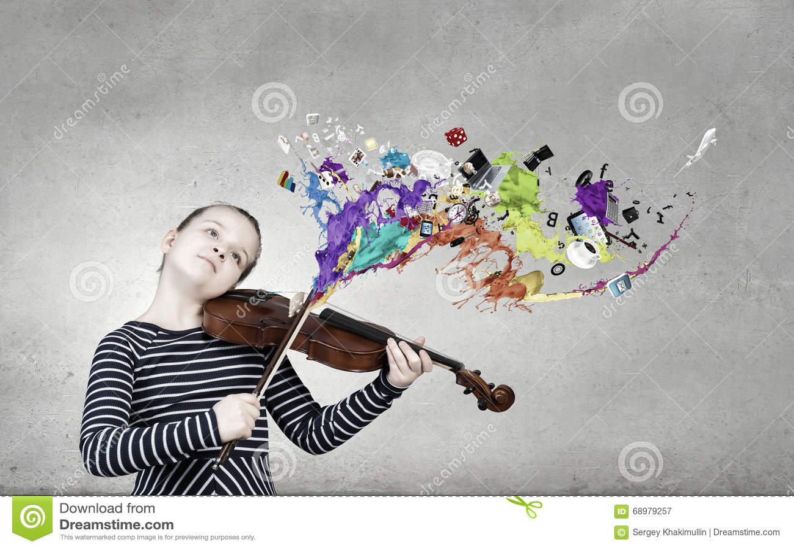 Liten fiolspelare