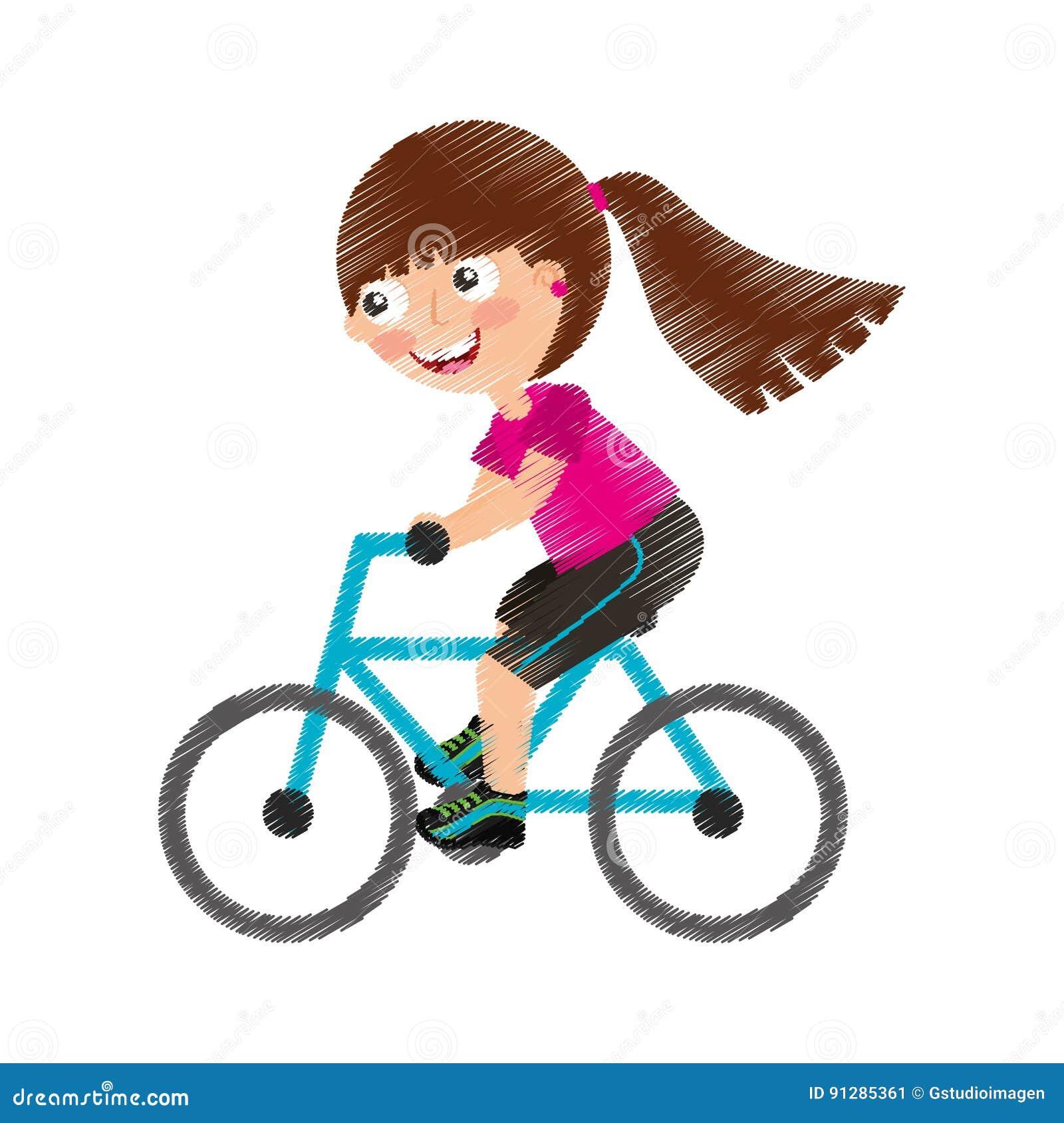 Liten flickaridningcykel