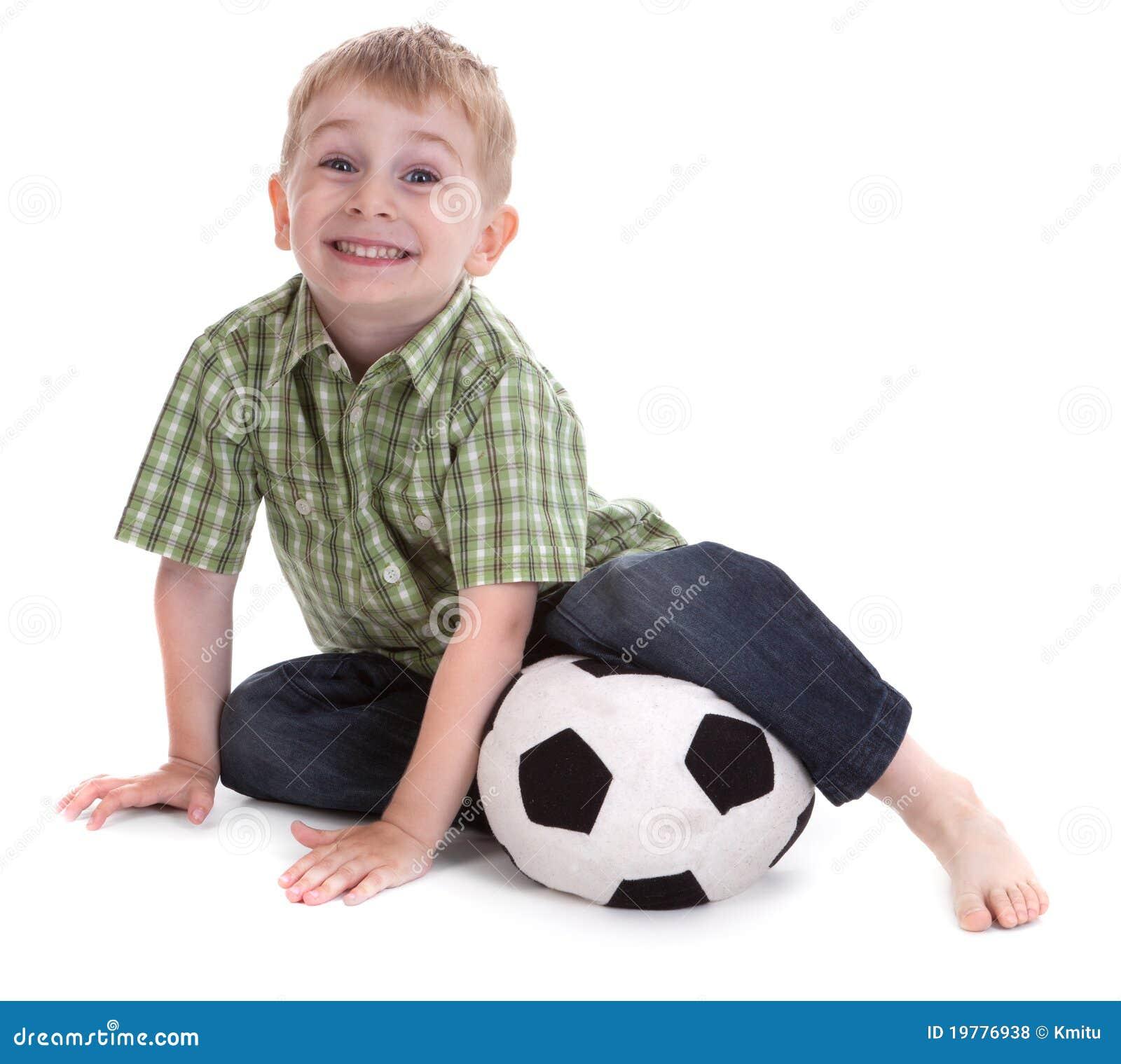 Liten fotboll för 2 pojke