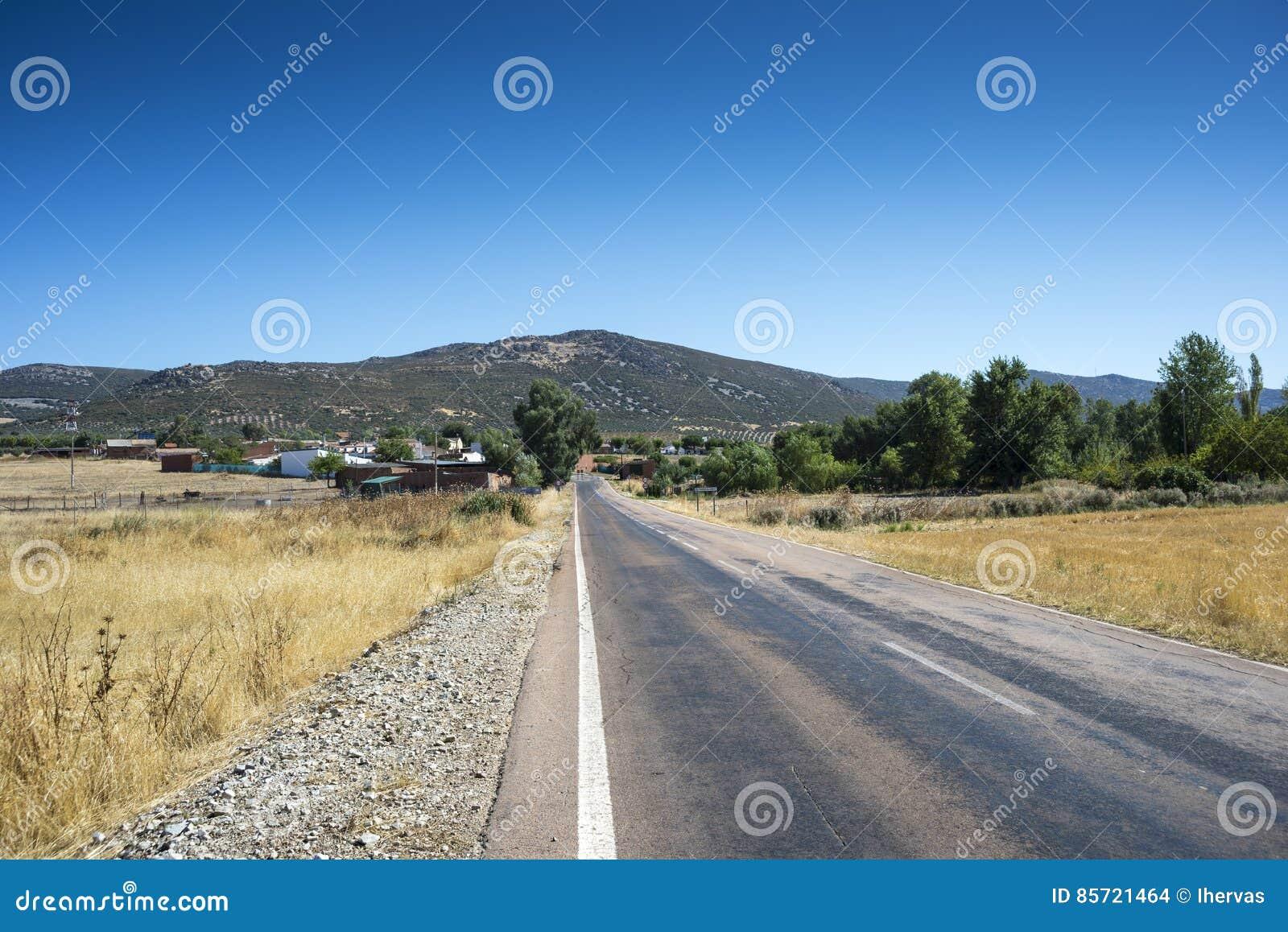 Liten liten by i La Mancha, Spanien