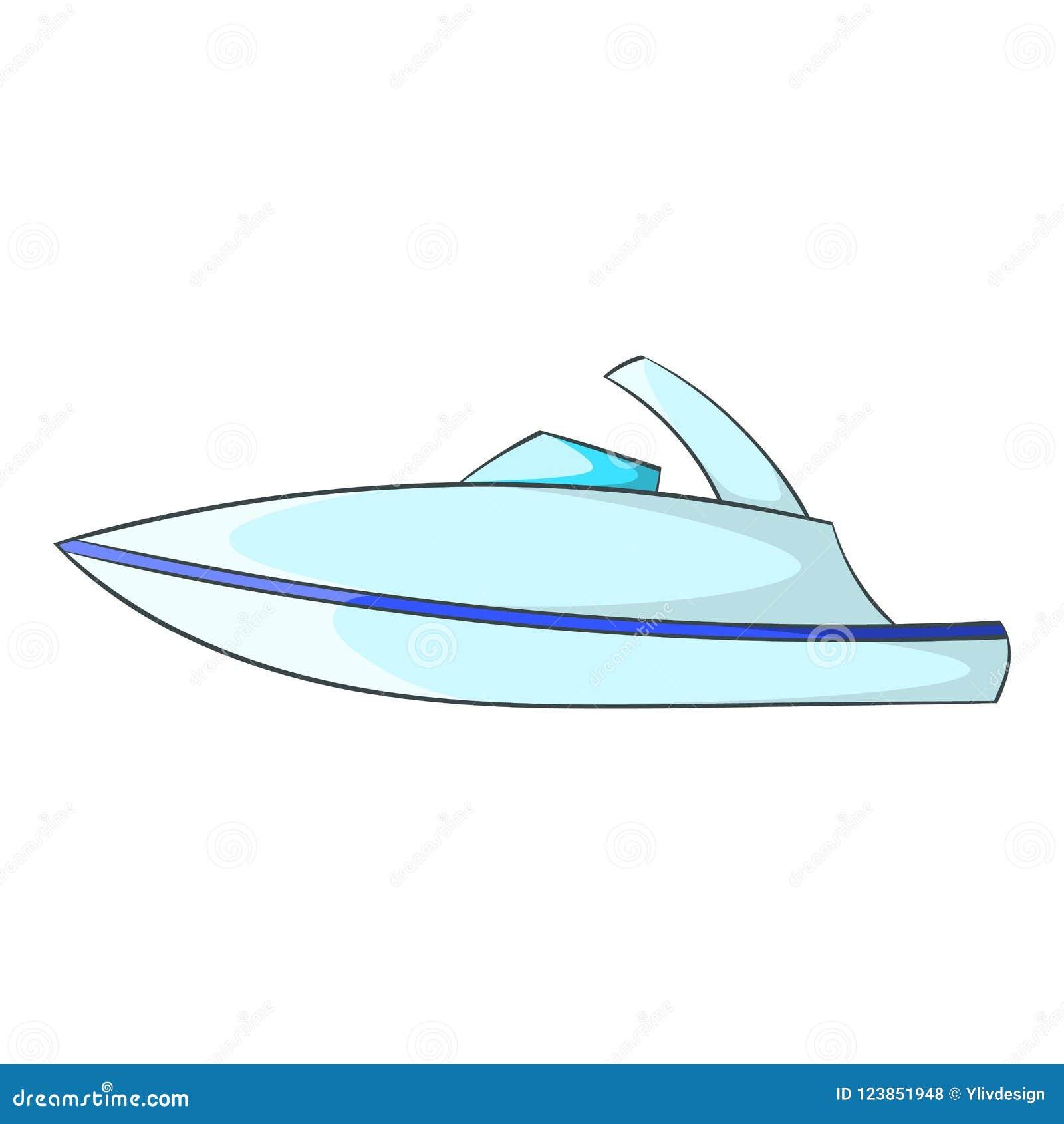 Liten powerboatsymbol, tecknad filmstil