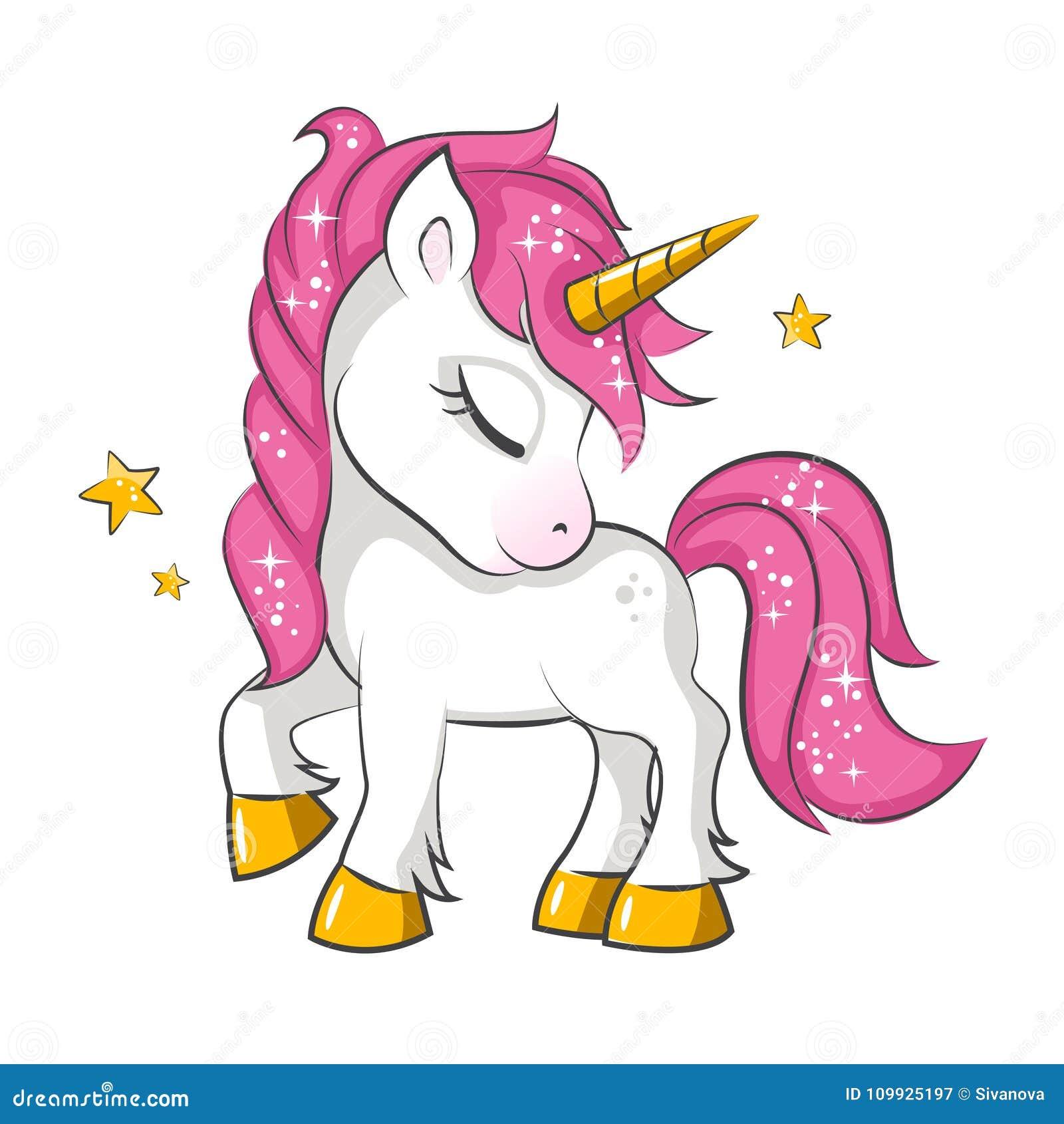 Liten rosa enhörning