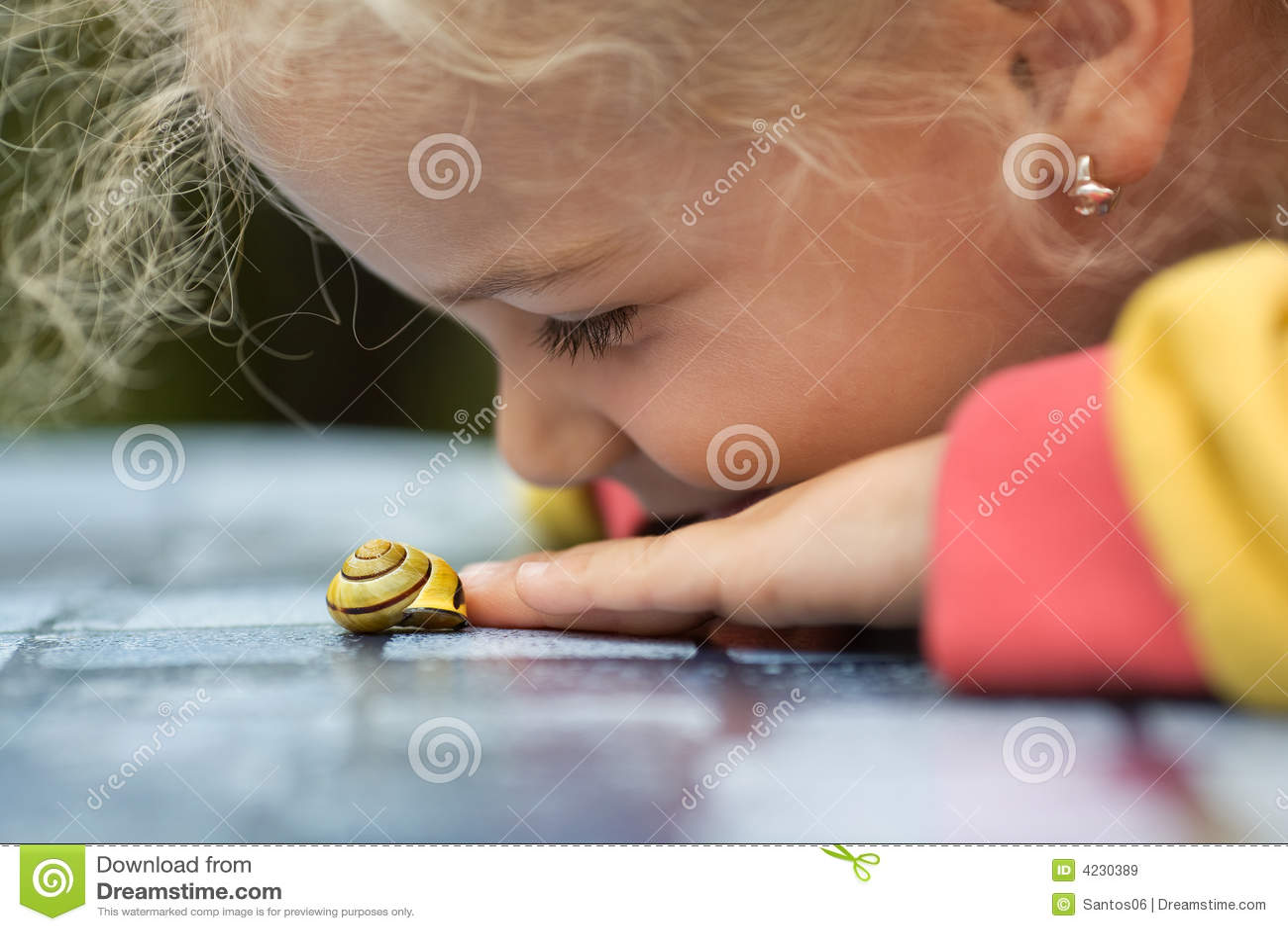 Liten snail för flicka