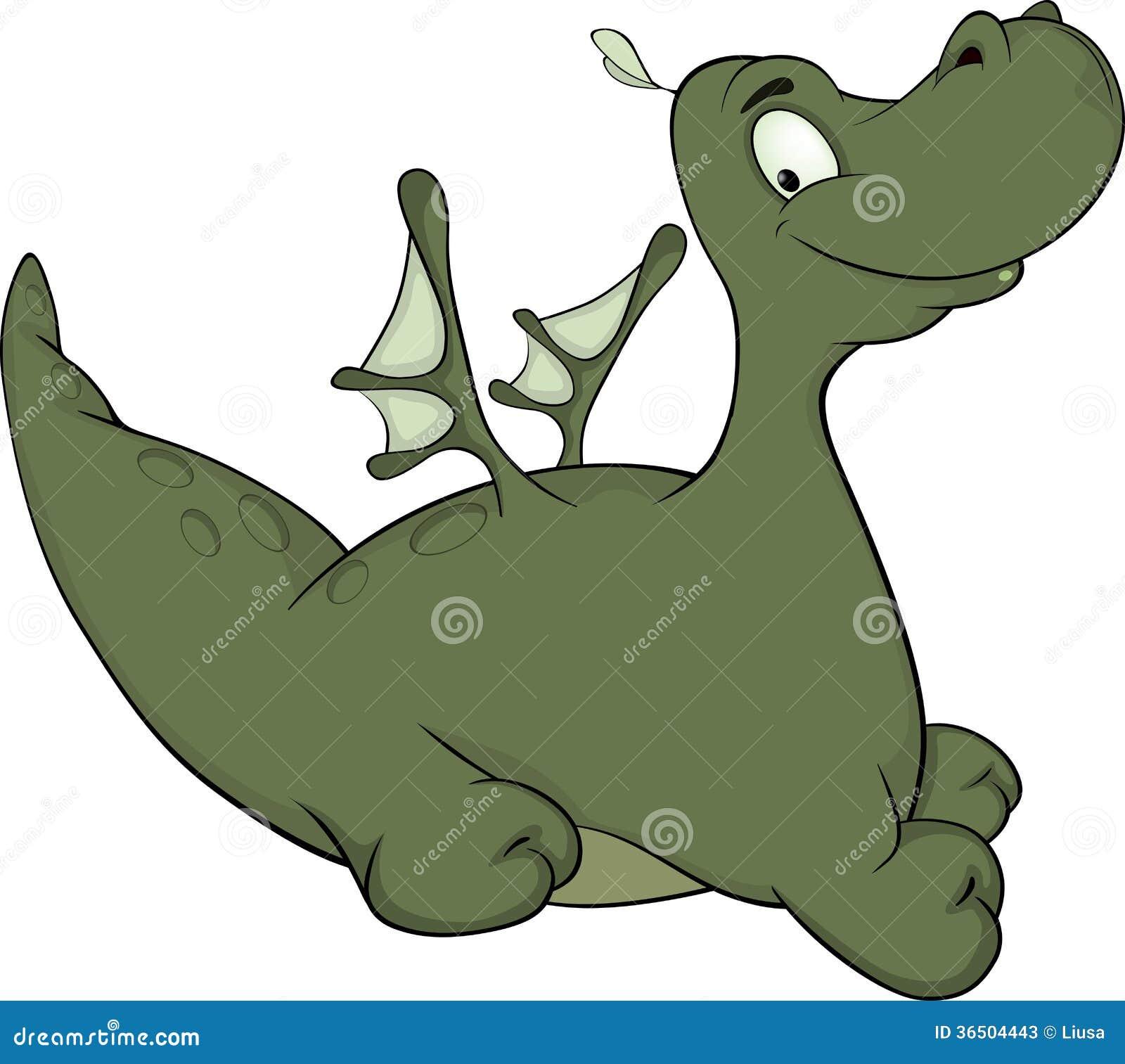 Liten tecknad film för grön drake