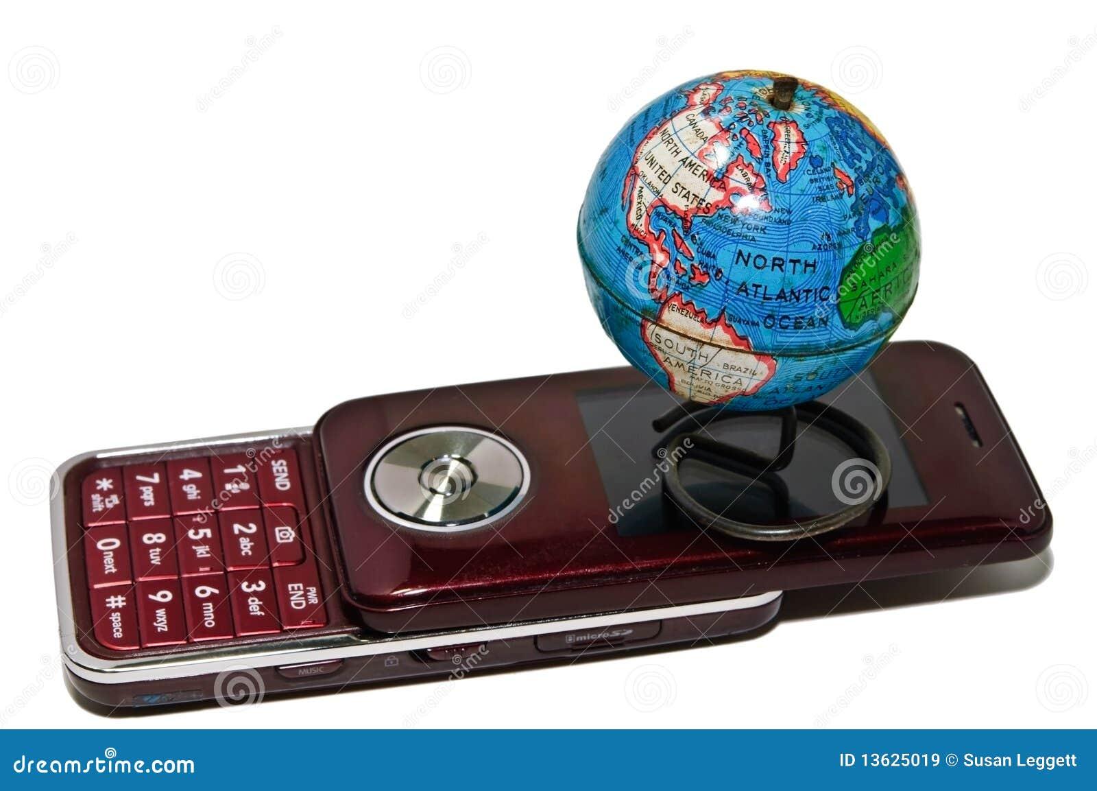 Liten värld för celljordklottelefon