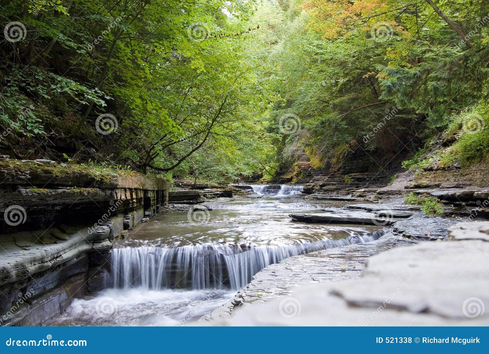 Liten vattenfall