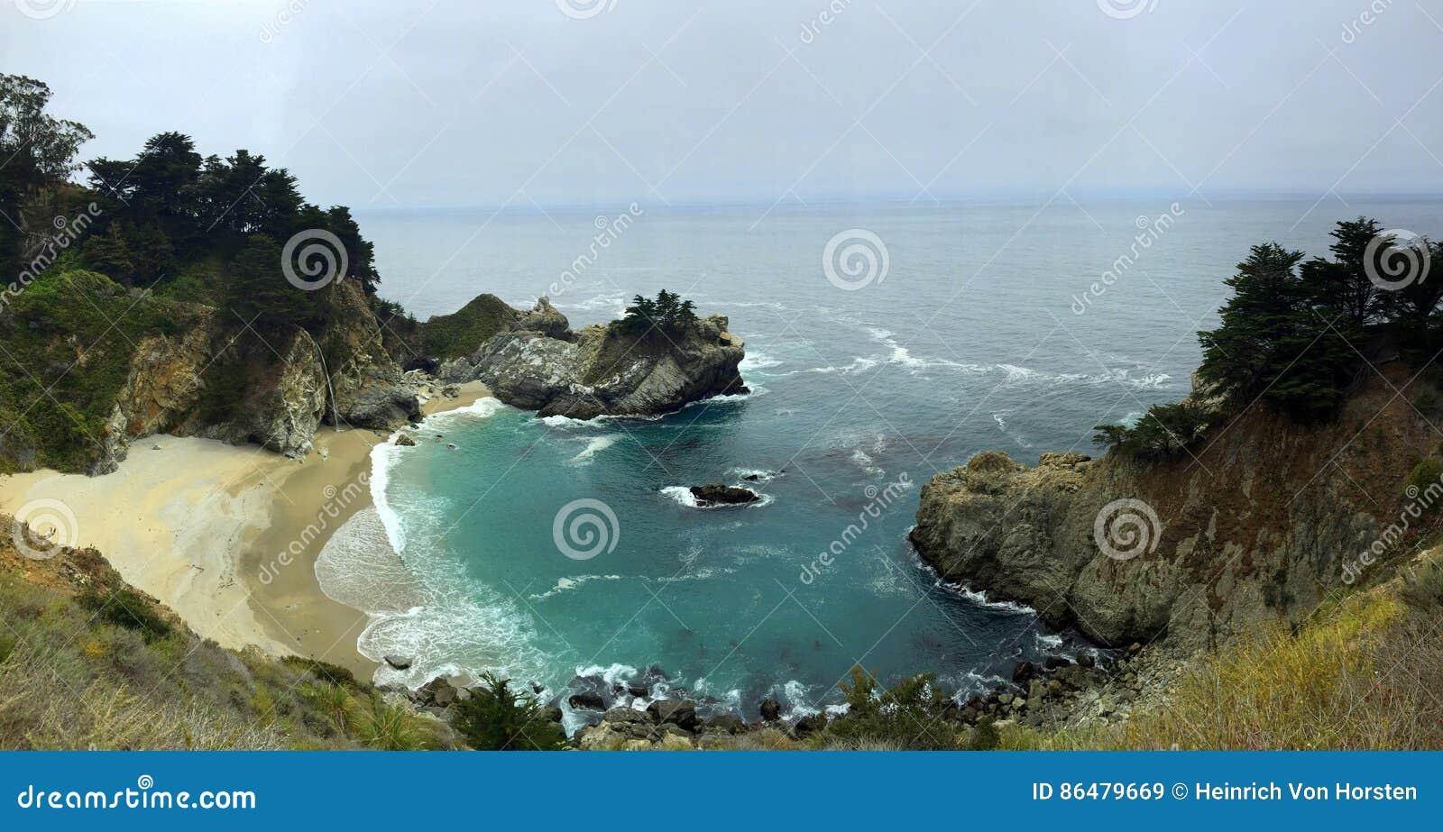 Liten vik för Kalifornien strandporslin