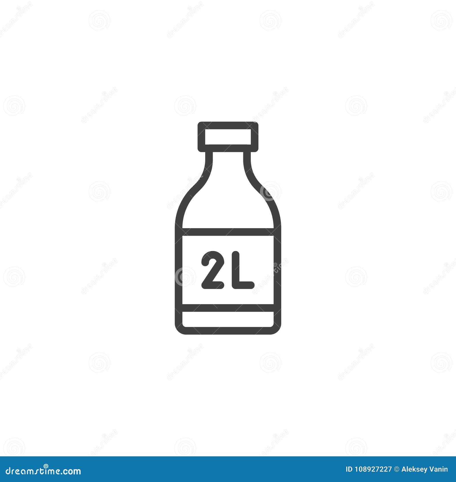 2 liter bottle line icon stock vector  Illustration of icon