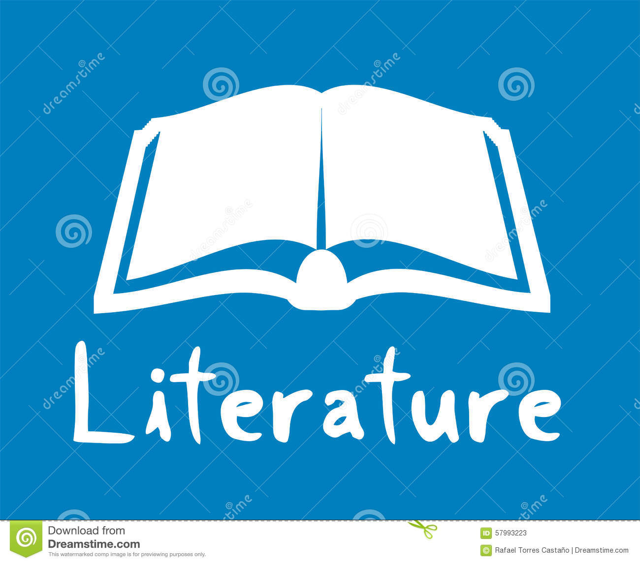 literature icon stock vector image 57993223 literature icon