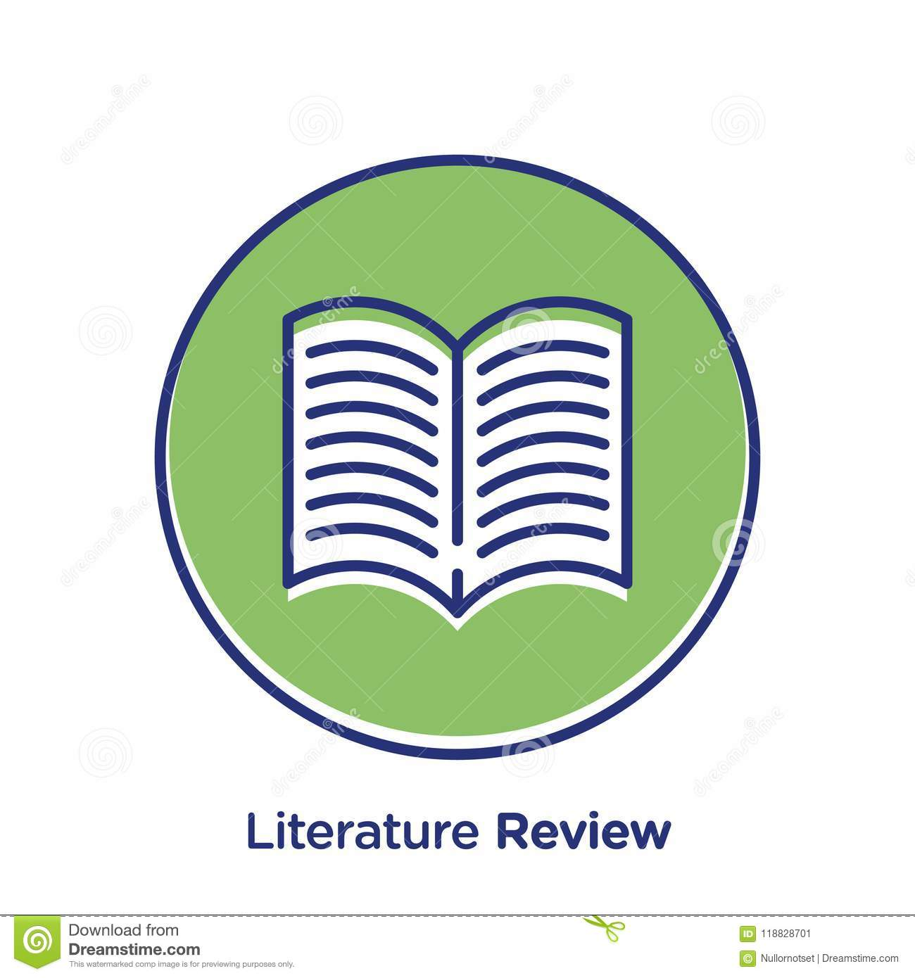 Literature Review Web Icon Stock Vector Illustration Of Knowledge