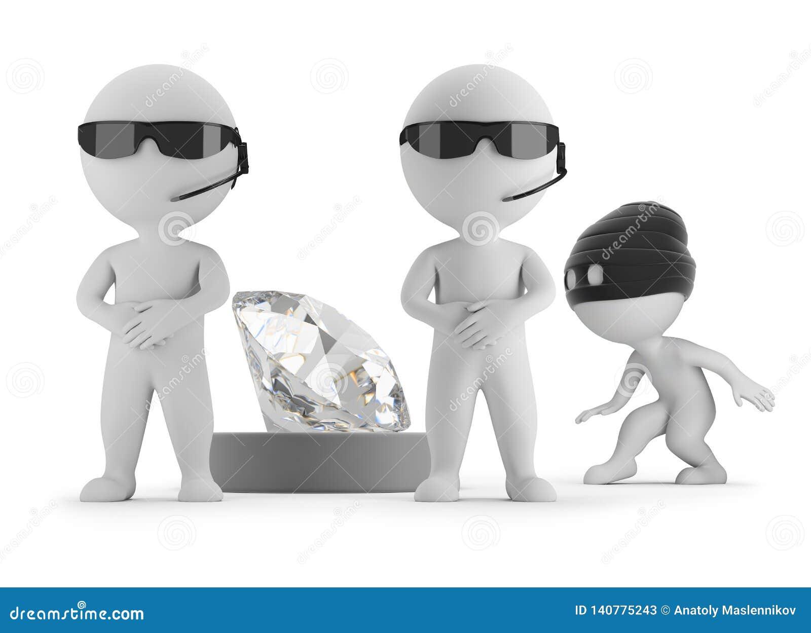 Litet folk 3d - tjuven önskar att stjäla en diamant