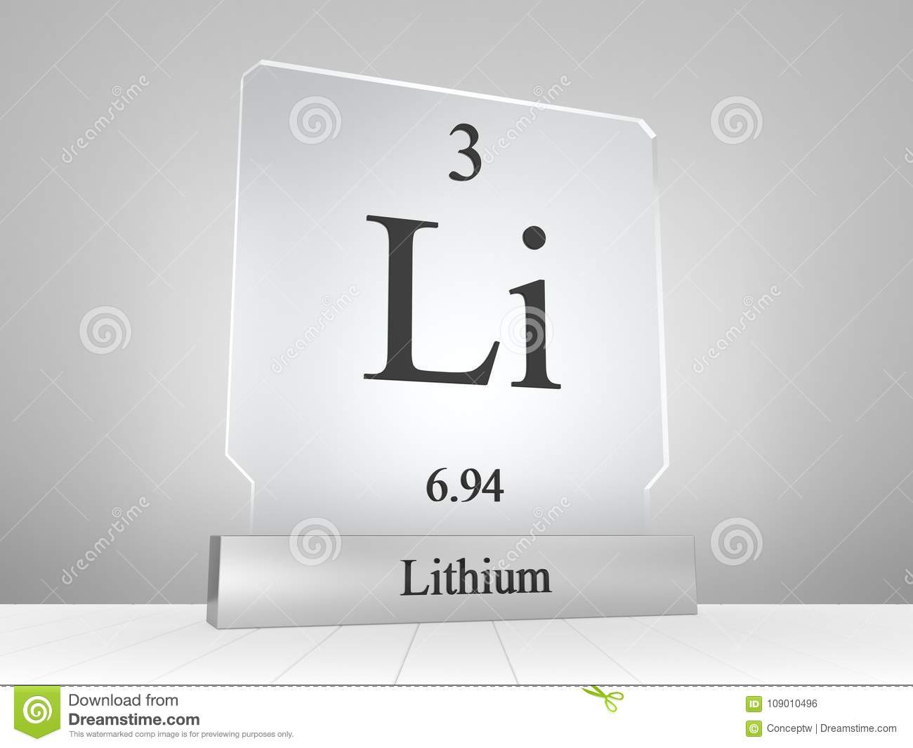 Lithium symbol on modern glass and metal icon stock illustration lithium chemical symbol from periodic table of the elements on modern glass and metal icon urtaz Gallery