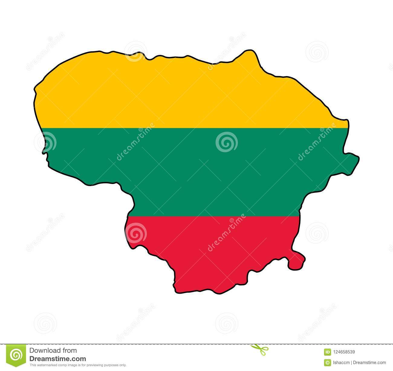 Lithuania Carte d illustration de vecteur de la Lithuanie