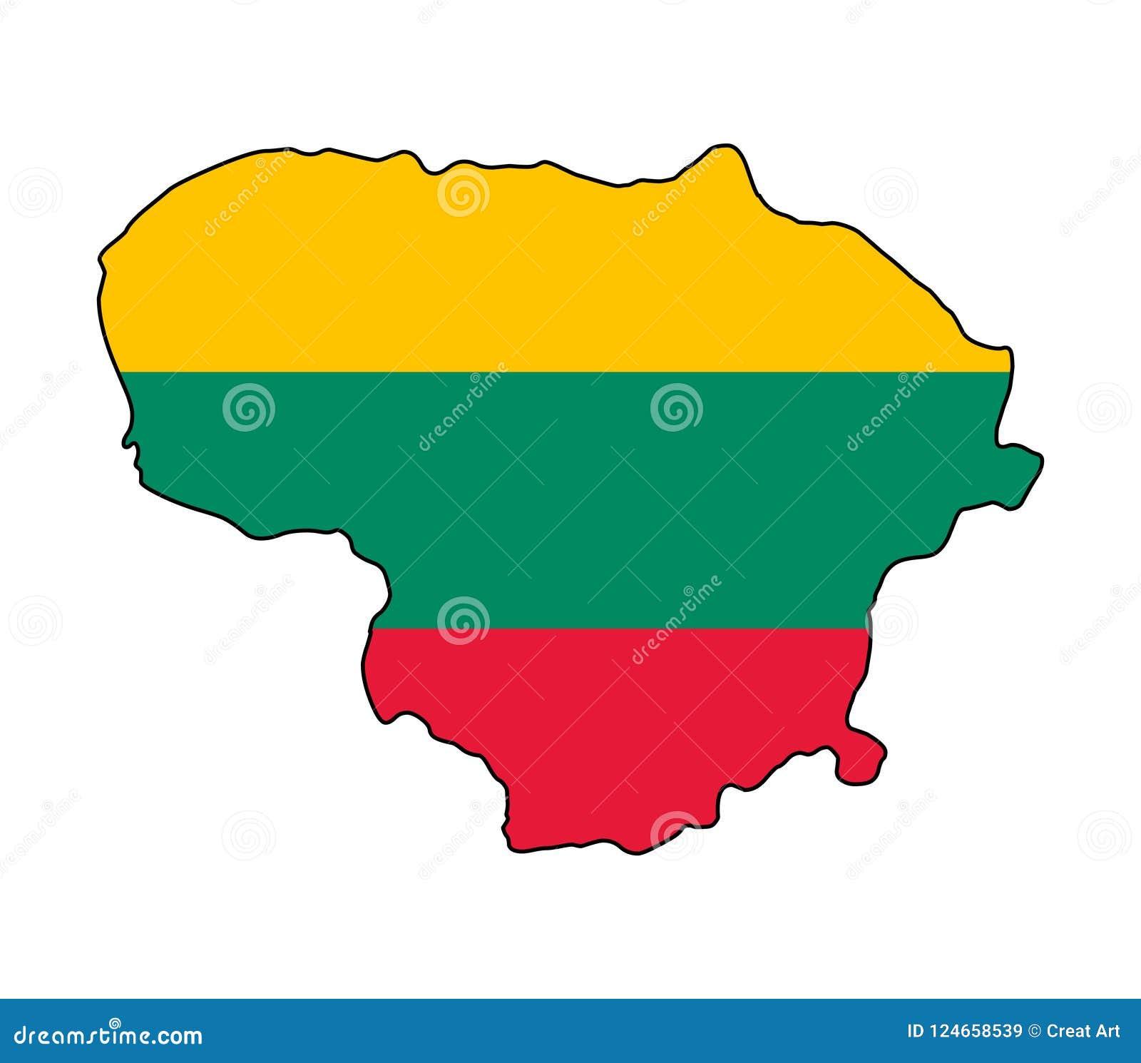 Lithuania Mapa Lithuania wektoru ilustracja