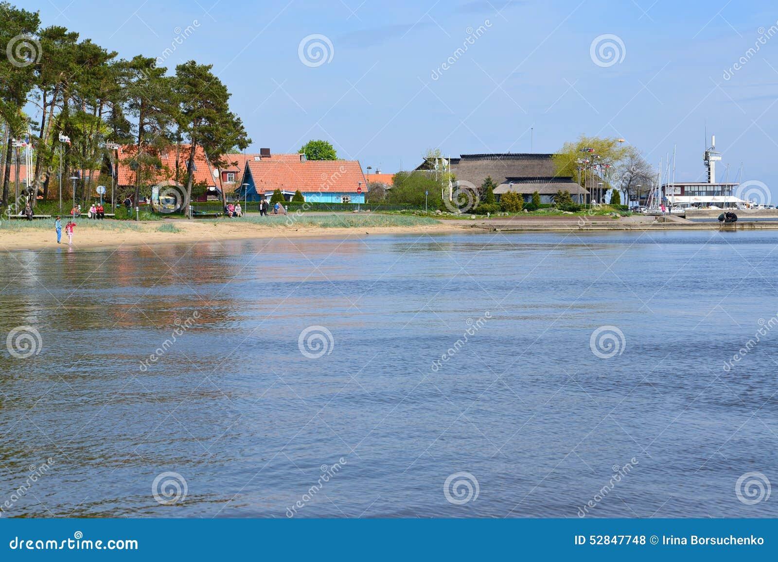 Lithuania Vista di Nida dalla baia di Curonian