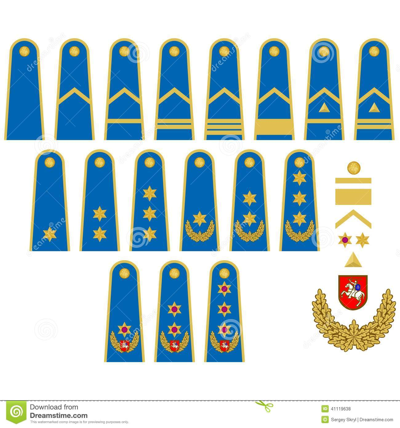 Lithuanian Air Force Insignia Stock Vector