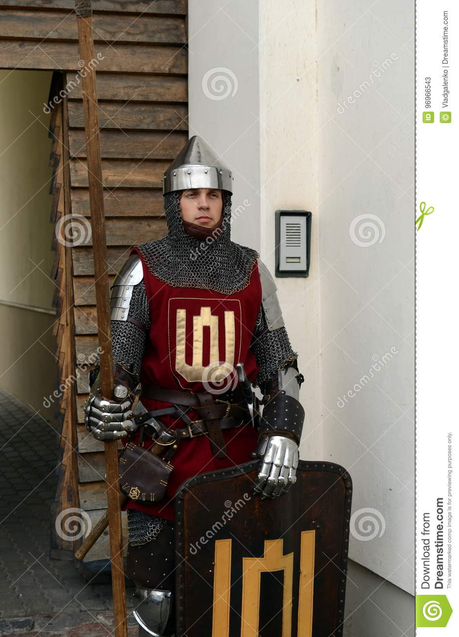 Lithuanian Knight At The Entrance To The Museum Of Applied Arts Editorial Stock Photo Image Of 2013lithuanian Mail 96966543