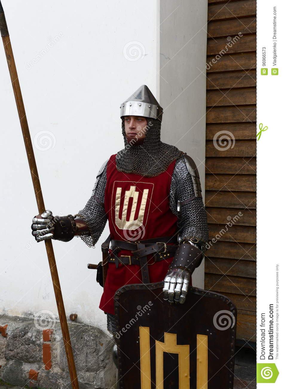 Lithuanian Knight At The Entrance To The Museum Of Applied Arts Editorial Stock Photo Image Of Knights City 96966573