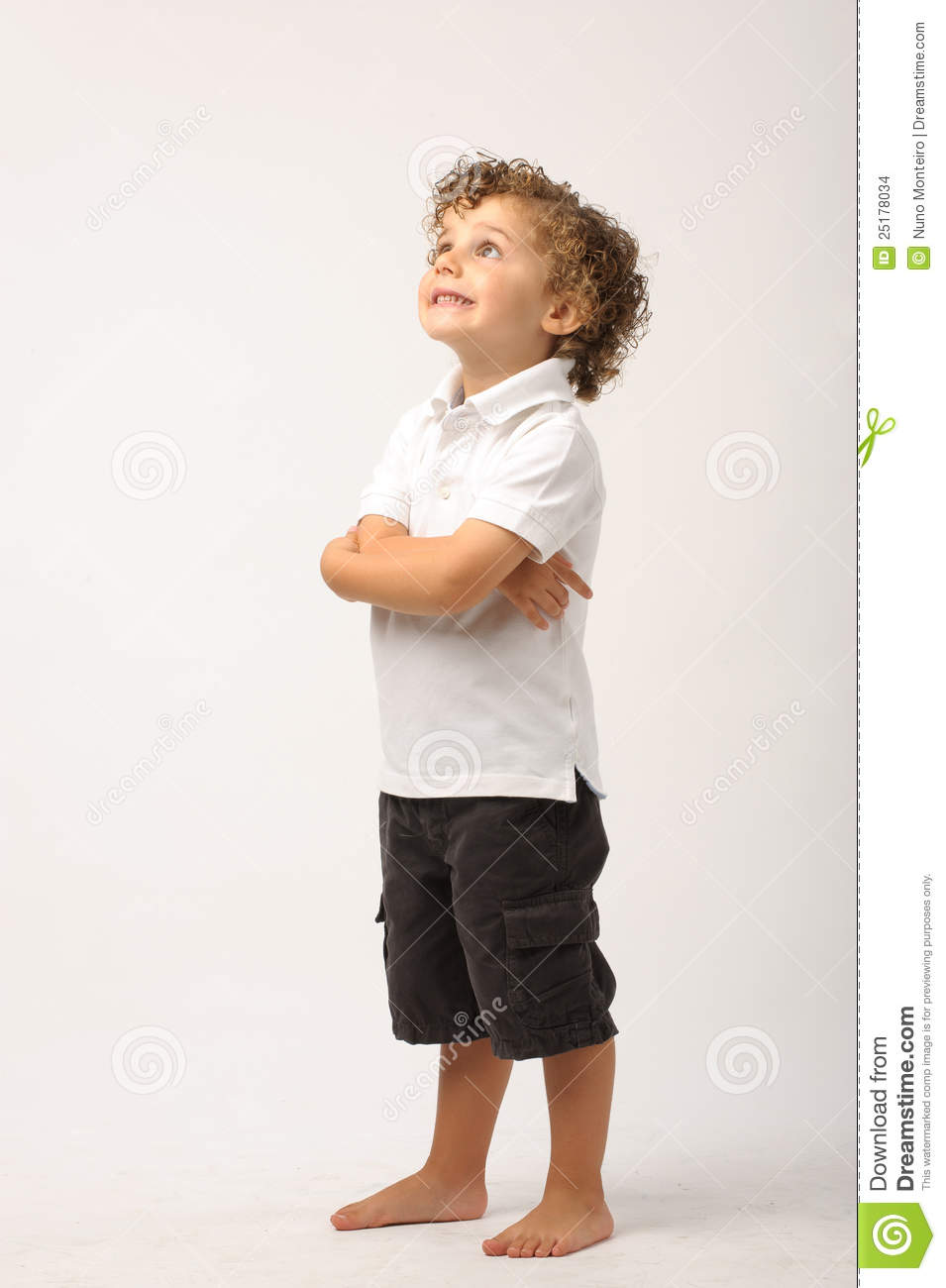 Litle Boy Standing With His Arms Crossed Stock Images ...