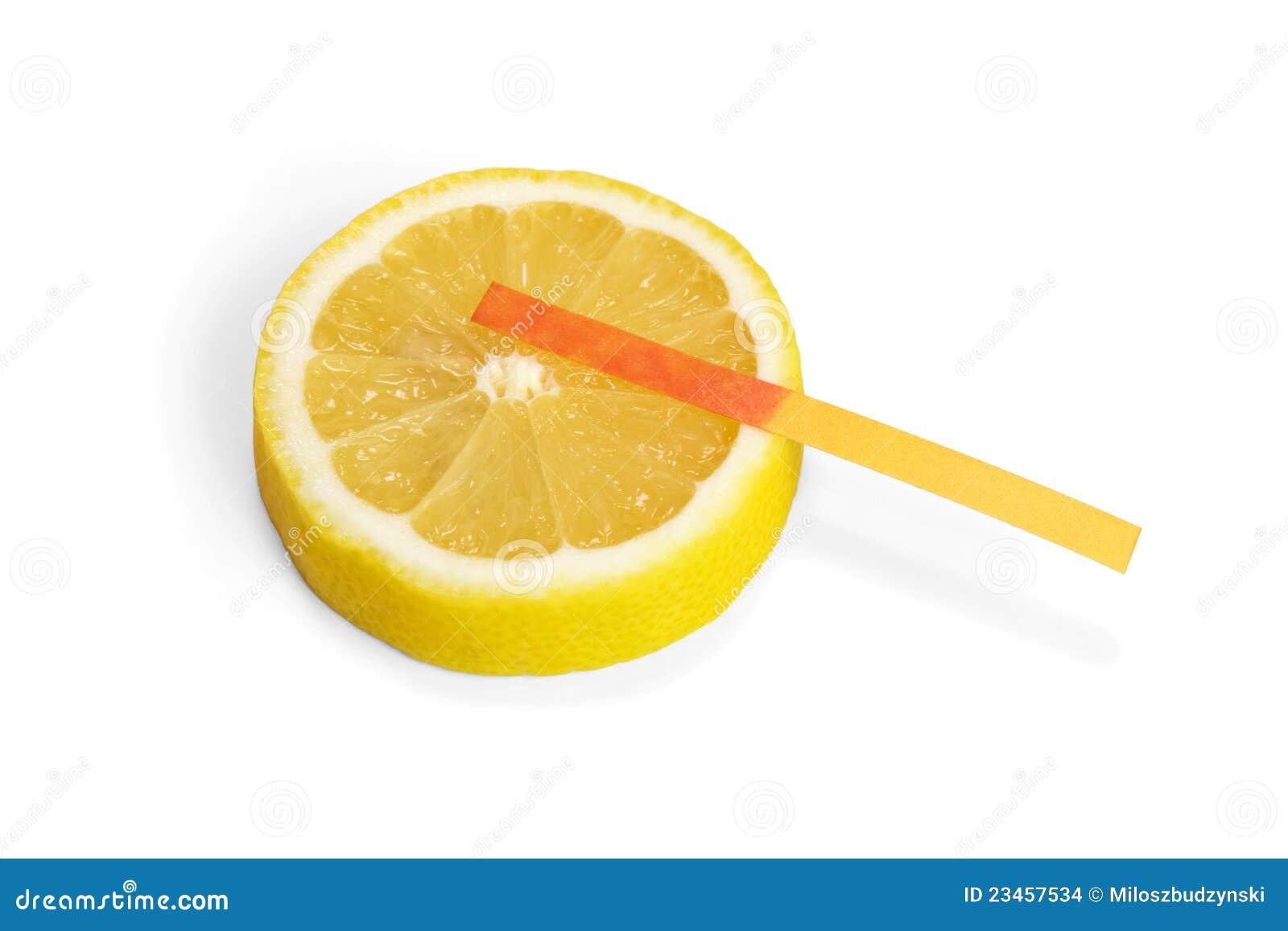 Litmus Paper On Lemon Slice Stock Photo - Image of vitamin