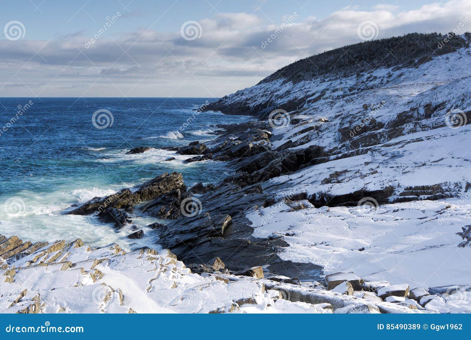 Litoral atlântico no inverno