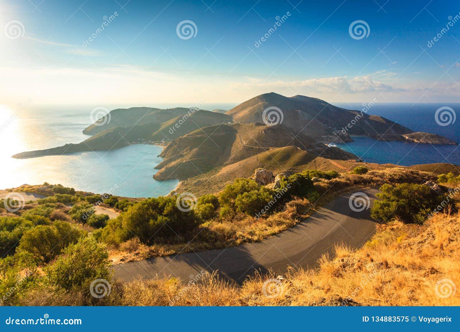 Litoral grego em Peloponnese, Mani Peninsula