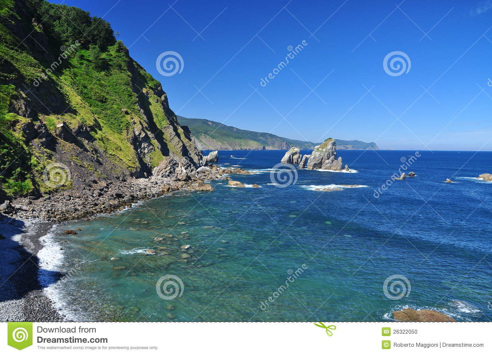 Litorale atlantico Basque. Euskadi, Spagna