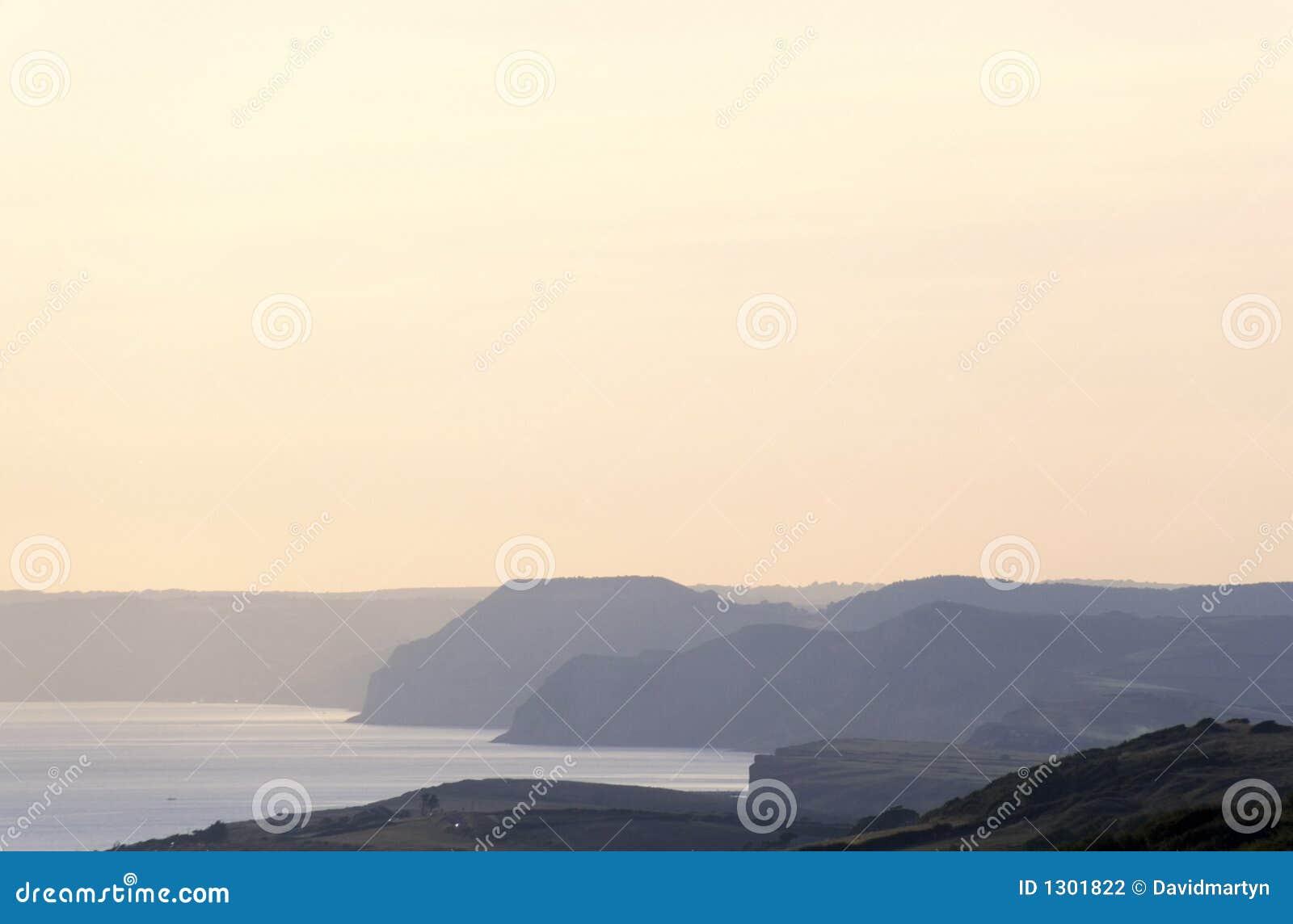 Litorale del Dorset vicino a bridport Dorset Inghilterra