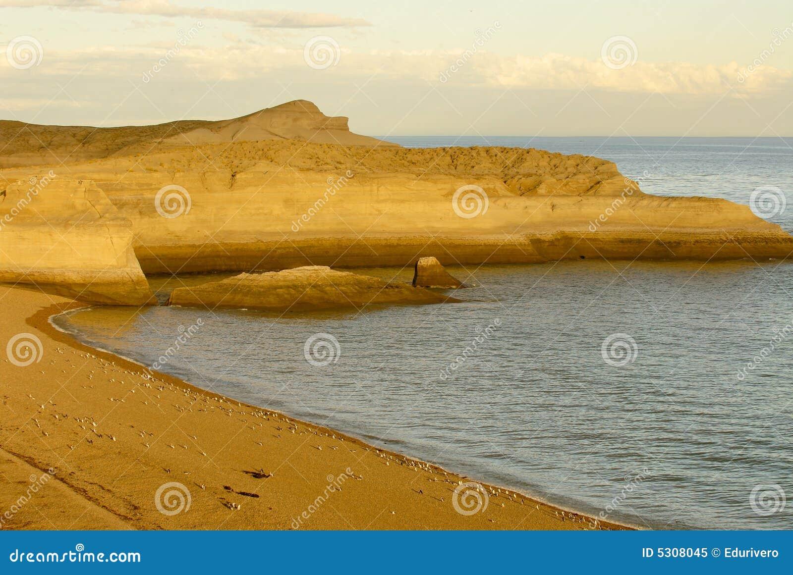 Download Litorale Patagonian immagine stock. Immagine di cielo - 5308045