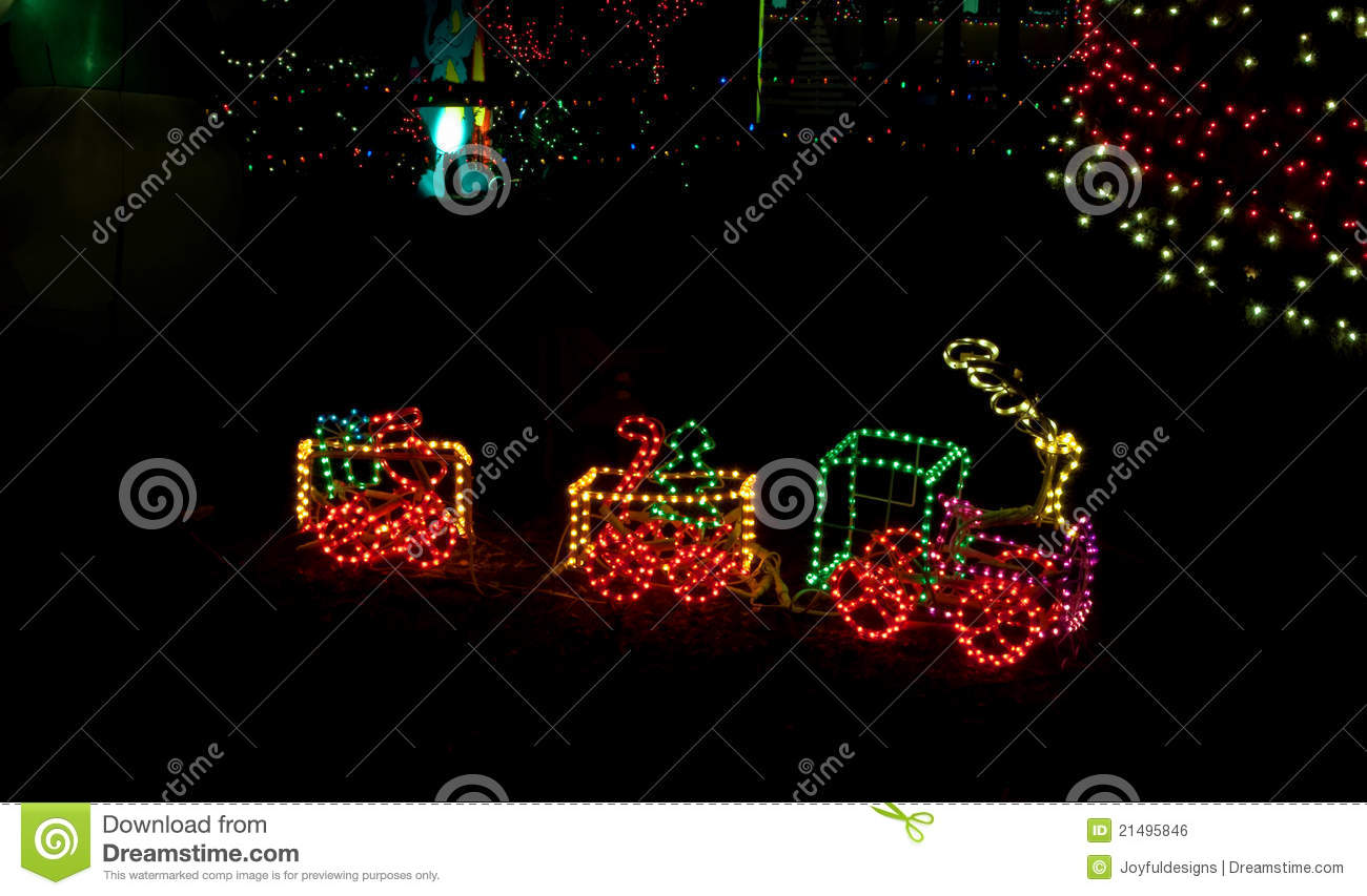 download litte toy train in christmas lights stock photo image of string holiday