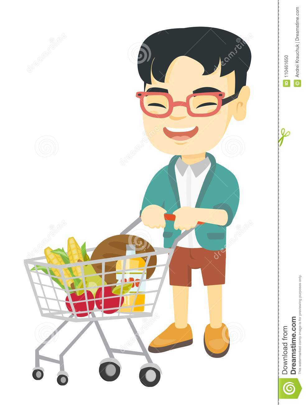 Boy Pushing Shopping Trolley Stock Illustrations 75 Boy Pushing Shopping Trolley Stock Illustrations Vectors Clipart Dreamstime