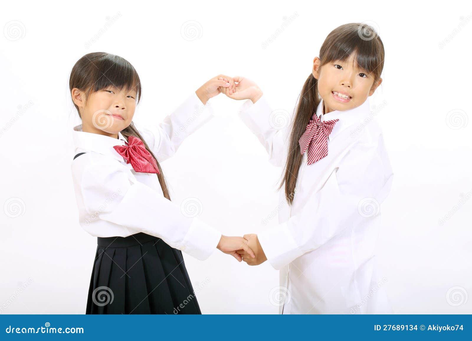 Small Asian School Girls