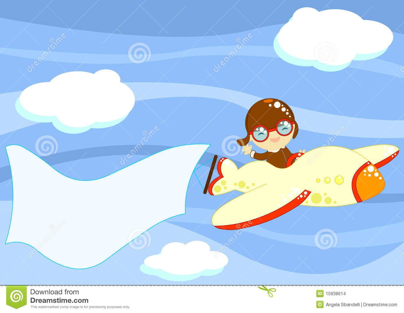 Little Aviator With Message To Fill Stock Images Image