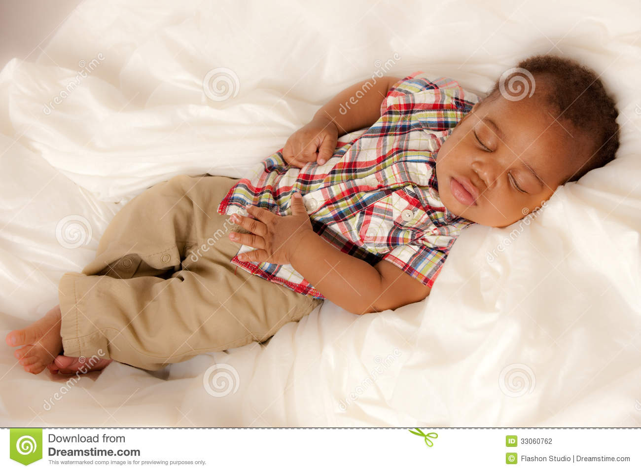 Little baby african american boy sleeping stock photography image 33060762 - African american baby boy pictures ...