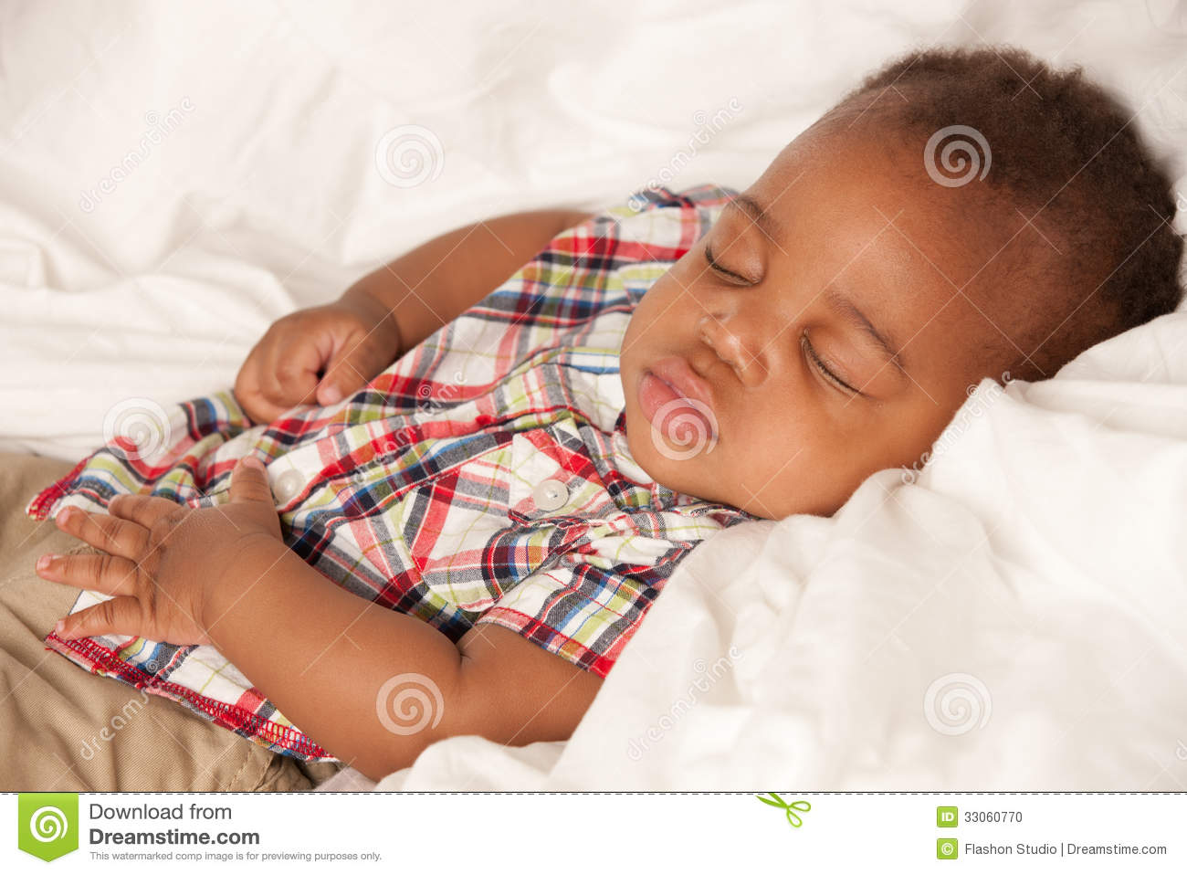 Little baby african american boy sleeping stock photo image 33060770 - African american baby boy pictures ...