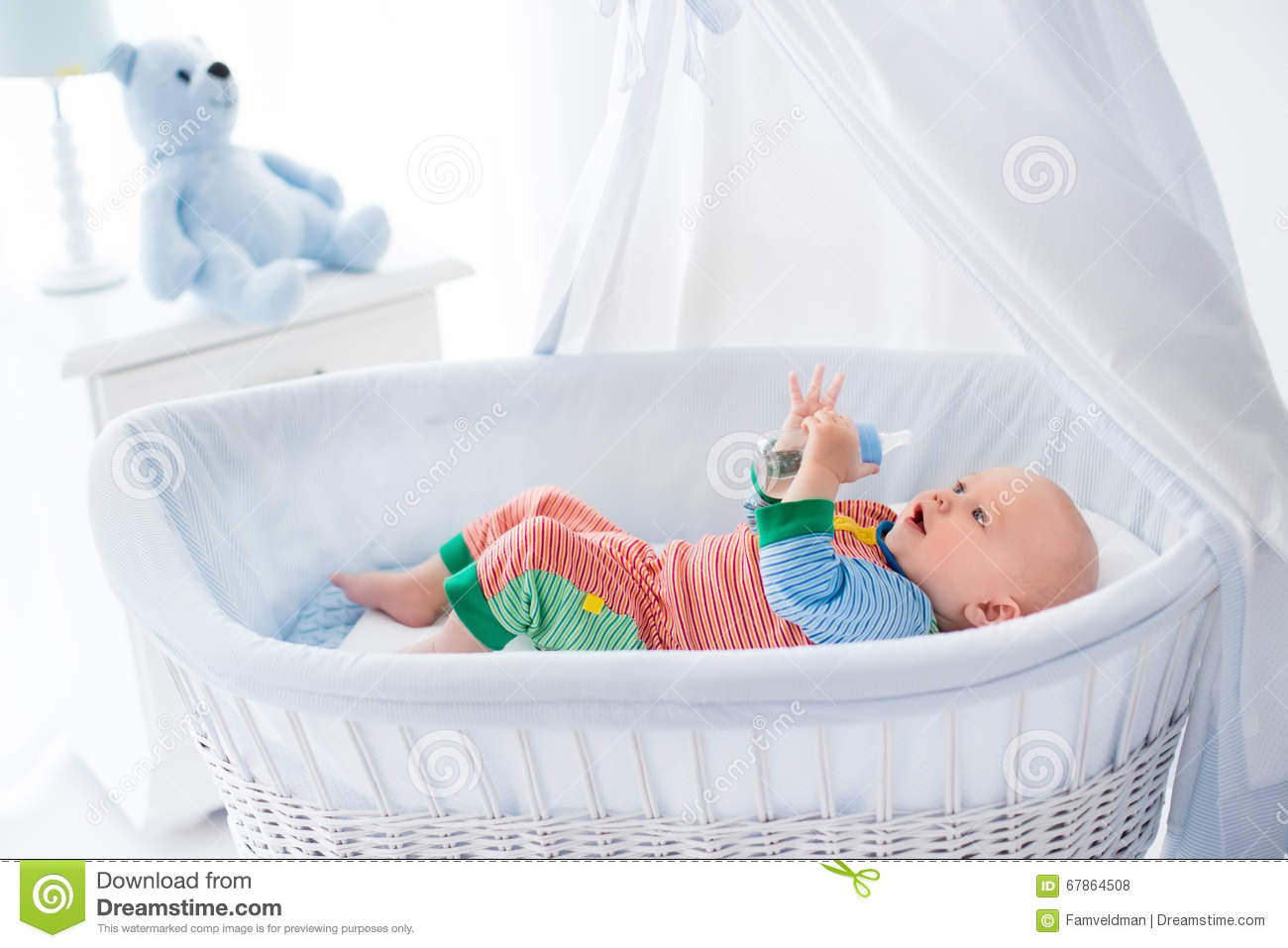 little-baby-bottle-white-bed-funny-color