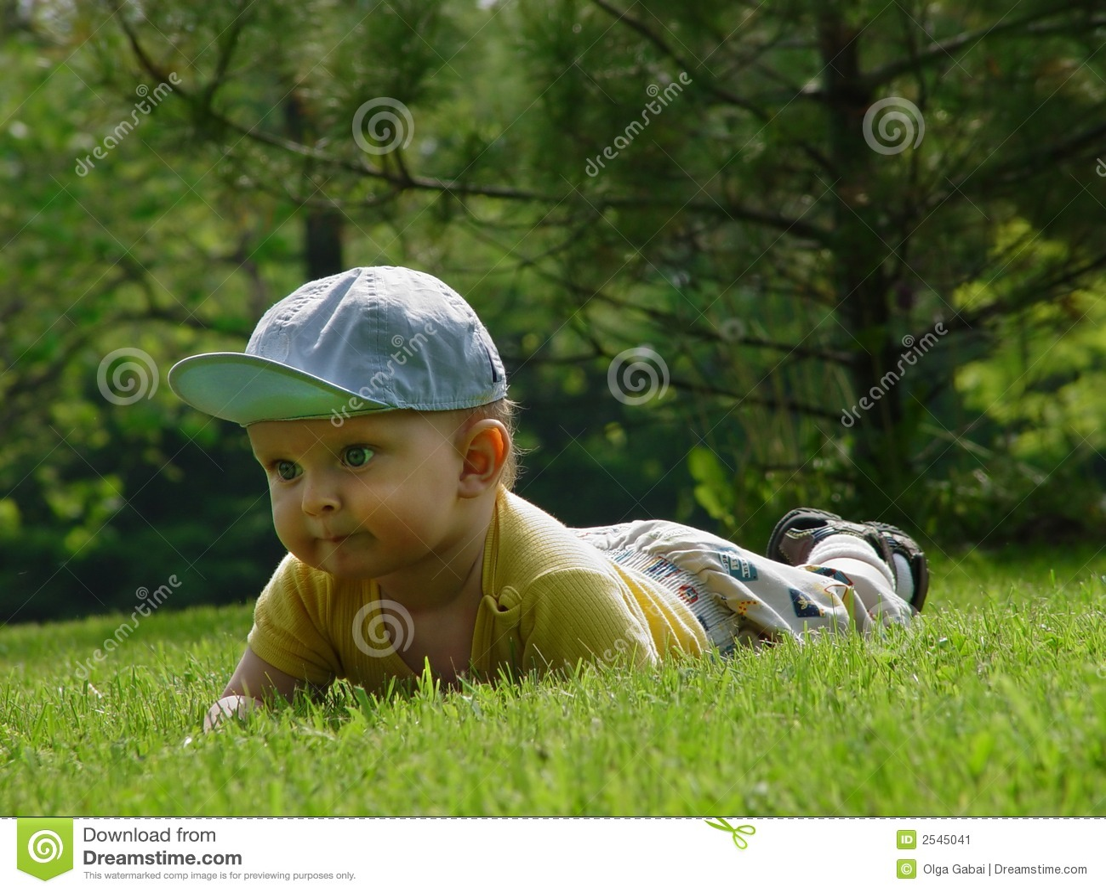 Little baby-boy on the grass