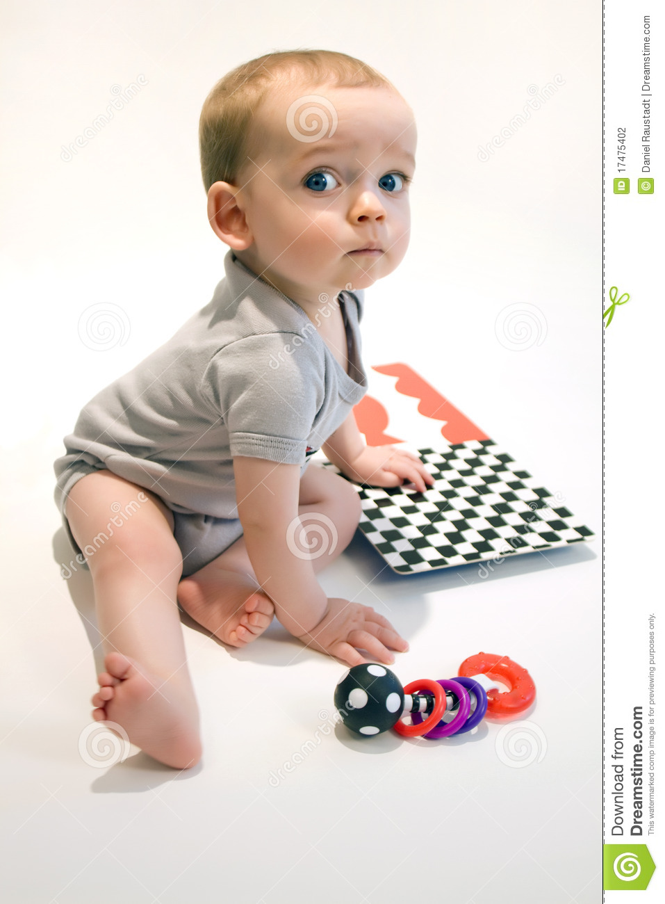 Toddler Toys Photography : Little baby boy with toys stock photography image