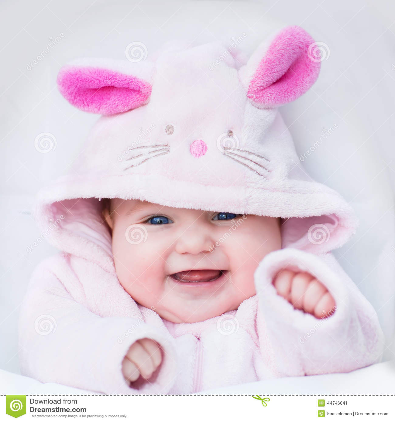 80177d8d9 Little Baby Dressed As Bunny Stock Image - Image of child ...