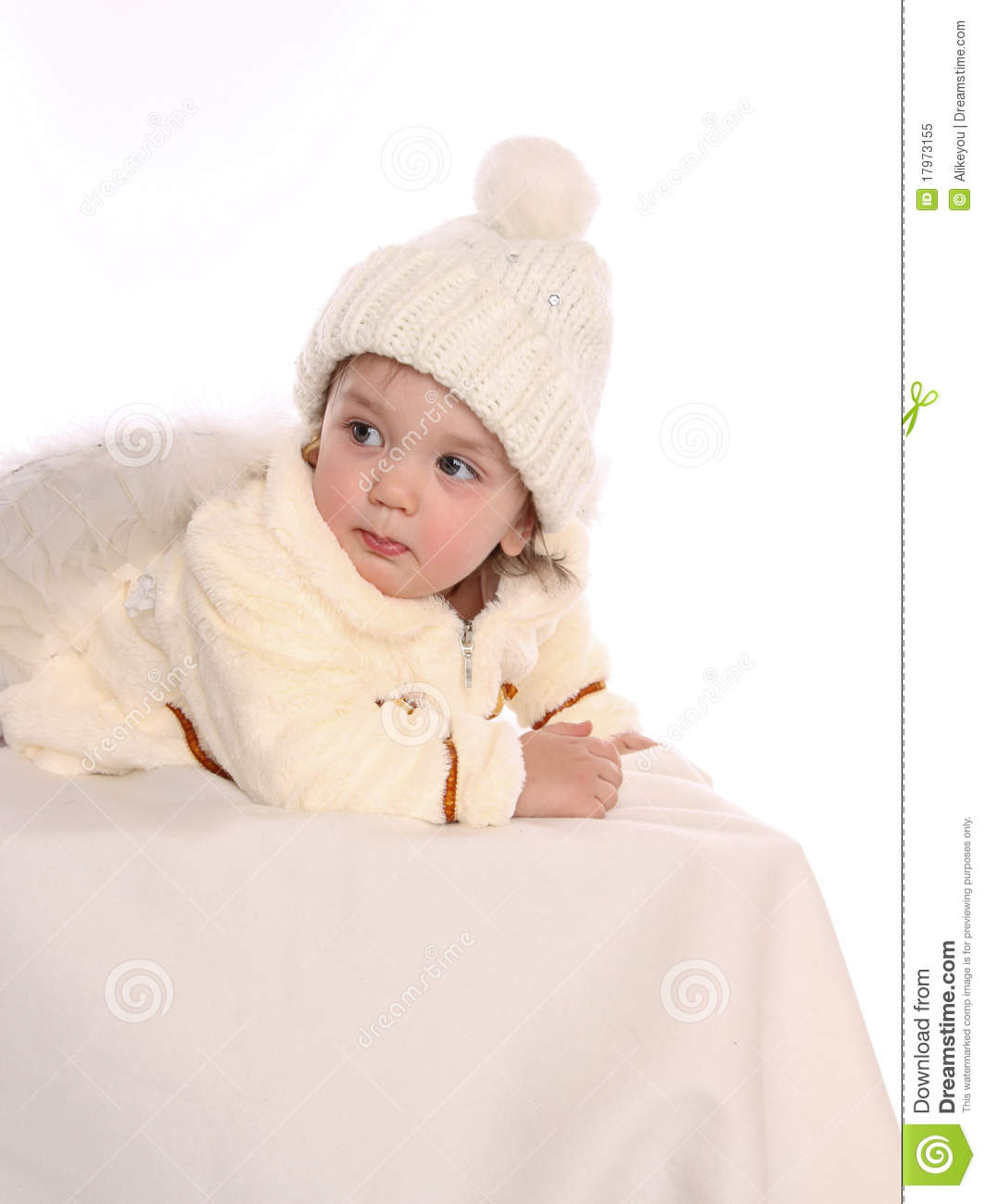 8cad269740b Little Baby Girl With Angel Wings Stock Image - Image of childhood ...