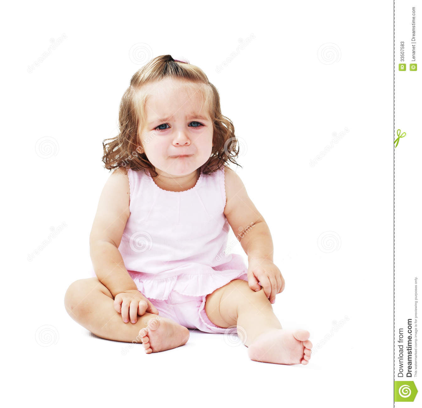 little baby girl crying stock image. image of pain, expressive