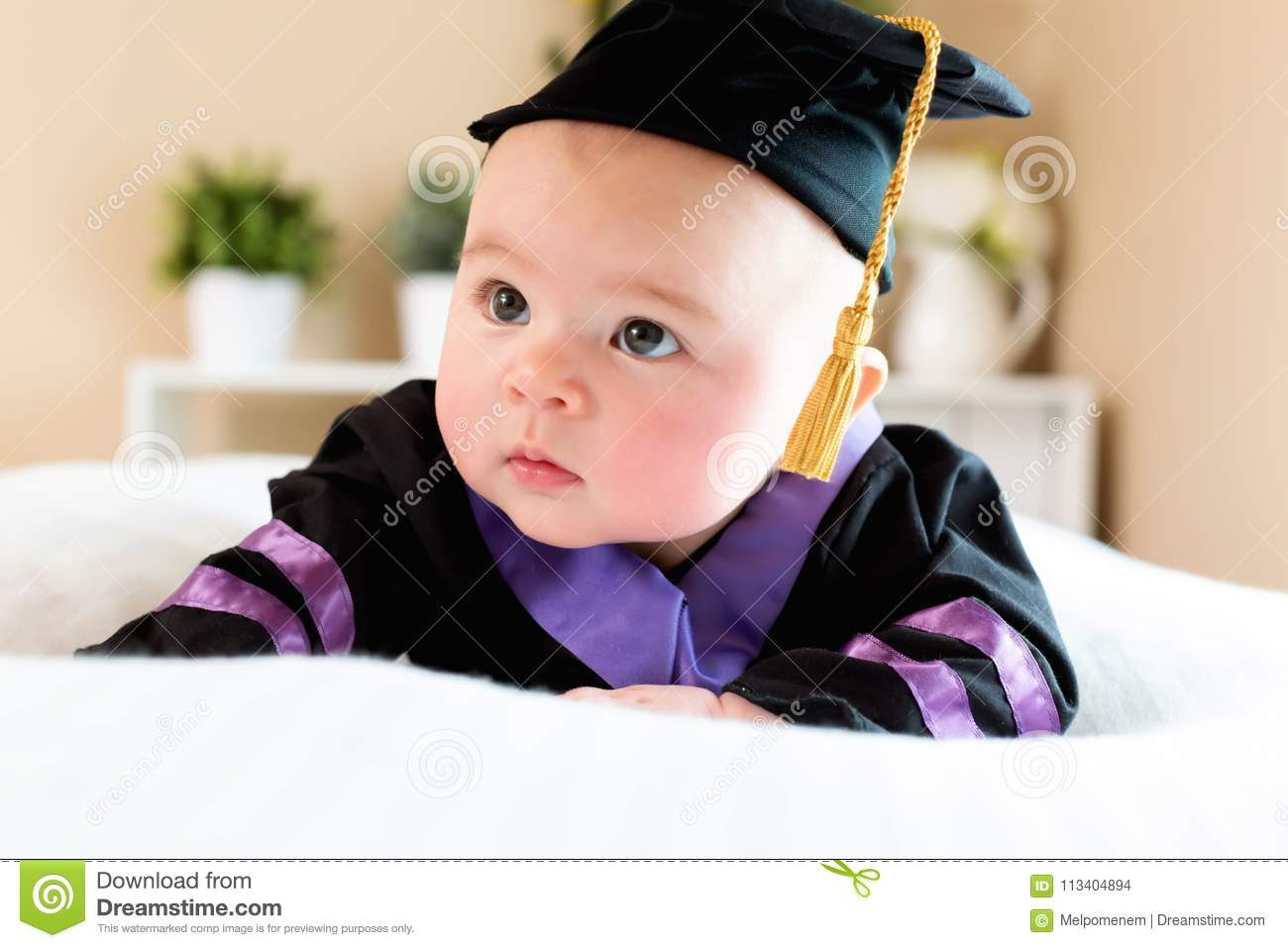 Perfect Baby Graduation Gown Festooning - Wedding and flowers ...